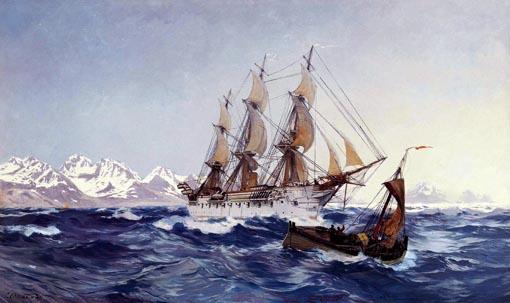 Bild von Carl Saltzmann, Nordlandreise (vor den Lofoten), 1901, Öl auf Leinwand